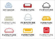 furniture stores logos. Set Logo, Badge, Emblem And Logo Elements For Furniture Store. Royalty Free Stock Stores Logos I