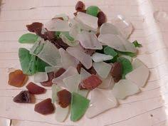 Small Picture Genuine Frosty White Green Teal Brown Beach Glass Bulk 235 Gram