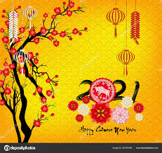 Happy Chinese New Year 2021 Year Flower Asian Elements Craft ⬇ Vector Image  by © tieulong
