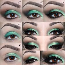 35 glitter eye makeup tutorials glittery emerald green eyes tutorial step by step diy