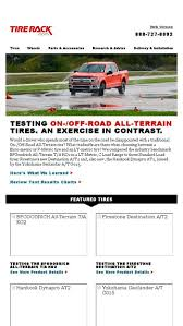 Tire Rack Review Chart Testing On Off Road All Terrain Tires An Exercise In