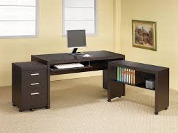 l office desk. Dark Brown Desk L Office
