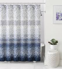 Navy Blue And Gray Shower Curtain