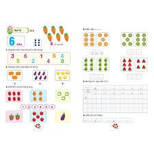COMBO 4 quyển Học toán và Tập tô tập viết cho bé chuẩn bị vào lớp 1 (Tặng  kèm 1 cây Bút chì 2B)