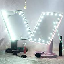 cosmetic mirror with lights touch screen led light mirror adjule degree rotation makeup vanity mirror cosmetic table desktop cosmetic mirror with lights