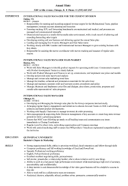 Resume For Sales Manager International Sales Manager Resume Samples Velvet Jobs 9