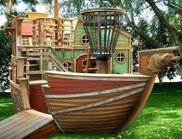 diy cardboard pirate ship playhouse swing set for pirate ship playhouse plastic decoration wooden