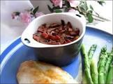 baked vegetable custard with crispy bacon