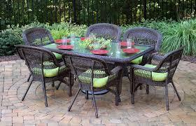 wicker patio dining chairs. Tortuga Outdoor Portside 7 Piece Wicker Dining Set. Coastal White. Dark Roast Southwest Amber Patio Chairs