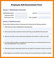 Sample Annual Performance Review Annual Performance Review Employee Self Evaluation Examples
