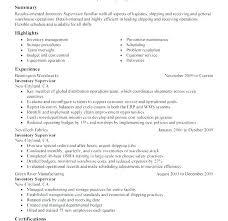 Inventory Management Specialist Job Description Inventory Supervisor Awesome Inventory Control Resume