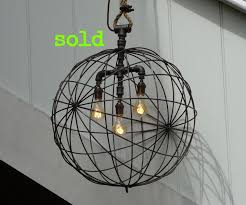 large metal sphere pendant light