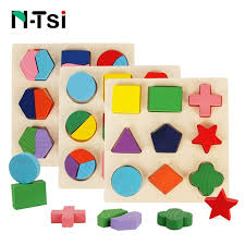 n tsi wooden geometric shapes sorting math montessori puzzle preschool learning educational game baby toddler toys for children