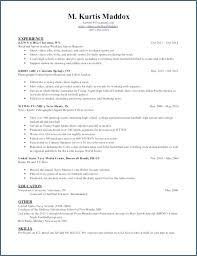 Marine Corps Resume Examples Amazing Marine Corps Resume Examples New Skills Based Resume Example