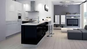 Deco Noir Gris Bleu Cuisine Tableau Laquee Quelle Blanc Craie Meuble