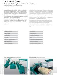 NOM NOM. Automatic Sectional Warper. Orditoio sezionale automatico - PDF  Download gratuito
