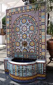 moroccan outdoor furniture. moroccan mosaic fountain outdoor furniture c