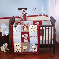 dalmatian themed crib cool dalmatian themed baby boy crib bedding colored in red baby blue and white to hit brown wooden crib