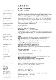 Department Store Manager Resumes Retail Manager Resume Example Department Store Puentesenelaire