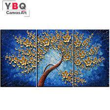 wall art sets gold flower tree hang