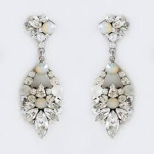 modern crystal teardrop chandelier earrings