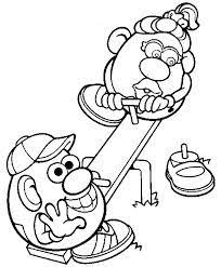 mr potato head colouring pages from kids colour in books
