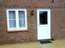 white upvc back door window