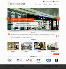 Mechanical Website Templates Free Electrician An Industrial Category ...