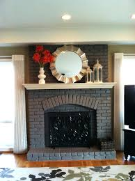 Painted White Brick Fireplace Ideas Mantel Painting Before And After