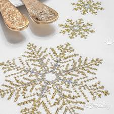Christmas Snowflakes Pictures Christmas Snowflakes Cross Stitch Machine Embroidery Designs 3 Sizes