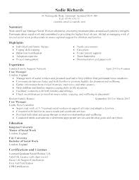 Example Of Social Work Resume – Promisedesign