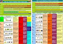 Vitamins Minerals Holistic Health Chart Available In A4 And A3 Sizes Laminated A4 Laminated