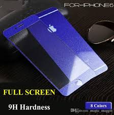 luxury shimmering powder screen protector colorful silk print diamond cut tempered glass for iphone5 iphone6 iphone6plus with retail package glass cell