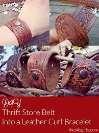 diy leather cuff bracelet