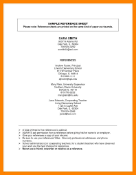 Reference Page Of Resume Reference Page For Resume Sheet Job Mesmerizing How To Write Brefash 22