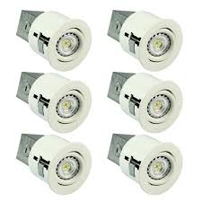 sgl 3 inch led recessed lighting kit 6 x gu10 6w led bulbs included 2700k warm white swivel ic rated pack of 6 led bulbs canada
