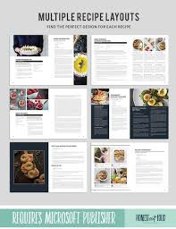 Publisher Cookbook Template Recipe Template Cookbook Template For Microsoft Publisher Instant Printable Download Editable