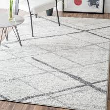 traditional gray white rug mercury row azha broken lattice light grey area reviews