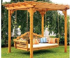 traditional patio pergola swing bed by pa outdoor diy