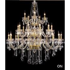 precio rebajado large 30 pcs gold candle chandelier crystal candelabro for living room e14 led lights hotel lobby