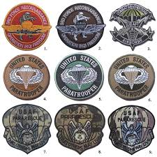 40 pcs embroidered patch usaf pararescue paratrooper me patch tactical emblem badges for jackets jeans backpack