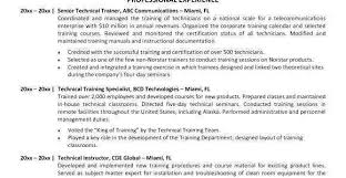 Technical Trainer Resume Technical Trainer Resume Freeletter Findby Co