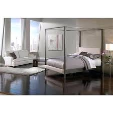 Modern Metal Canopy Bed Metal Canopy Bed Frame Platform Queen Size ...
