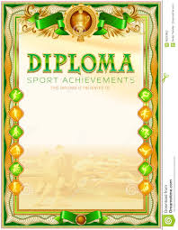 sport diploma blank template stock illustration illustration  sport diploma blank template