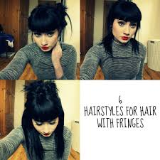 Hair Style For Long Hair With Bangs 6 quick and easy hairstyles for hair with fringes youtube 8858 by wearticles.com