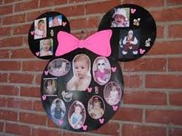 diy minnie mouse photo collage diy party parties disney mickeymouse