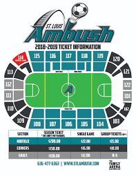 The Ready Room St Louis Seating Chart St Louis Ambush Soccer Season Seating Chart