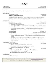 Sample Wildlife Biologist Resume Resume Example Biology Resume Biology  Resume