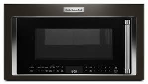 kitchenaid black stainless. kitchenaid black stainless steel over-the-range microwave (1.9 cu. ft.) - ykmhc319ebs kitchenaid o
