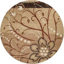 artistic weavers fremont tan wool 8 ft x 8 ft round area rug fremont 8rd the home depot